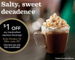 Starbucks Coupons: $1 Off Any Handcrafted Espresso Beverage!