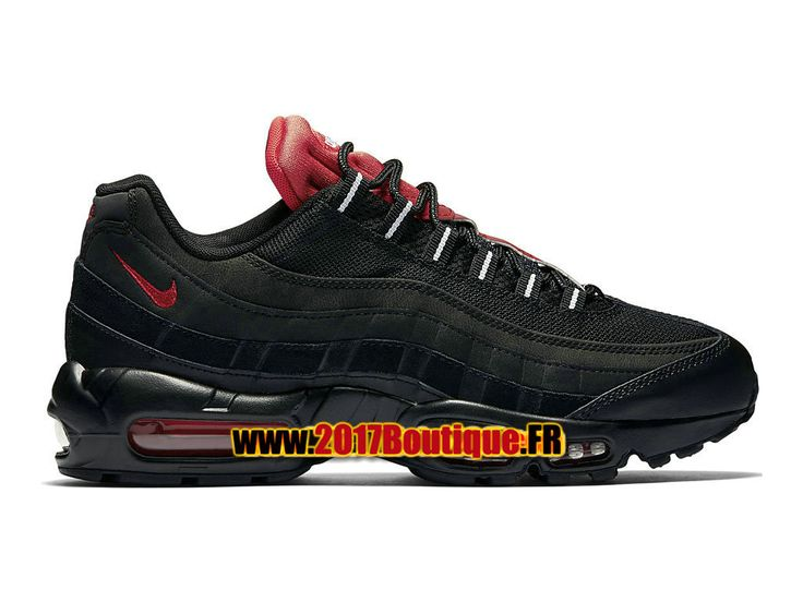 Nike Air Max 95 Essential Chaussures de Basketball Nike Pas Cher Pour Homme NoirRouge