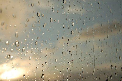 Wody, Słońce, Okno, Krople