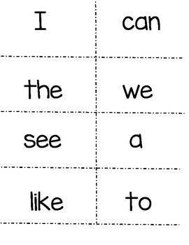 Wonders Kindergarten sight word flash cards. (plus number words and color words!) FREE!