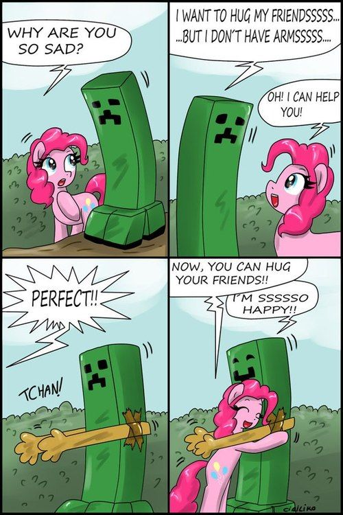 Creeper and Pinkie Pie - Minecraft Photo (33853503) - Fanpop fanclubs