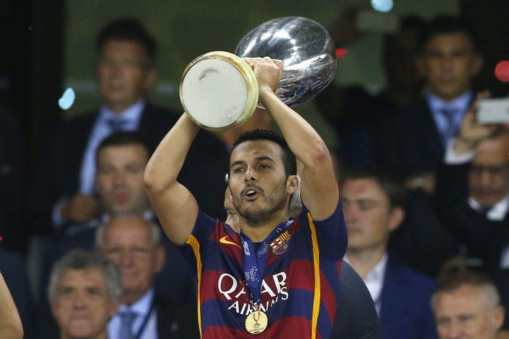 Herói de título, Pedro rebate dirigente do Barcelona e afirma não querer sair #globoesporte