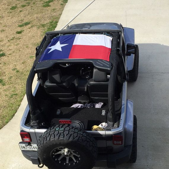 Texas Flag Jeep bikini top by Spartan1775 on Etsy