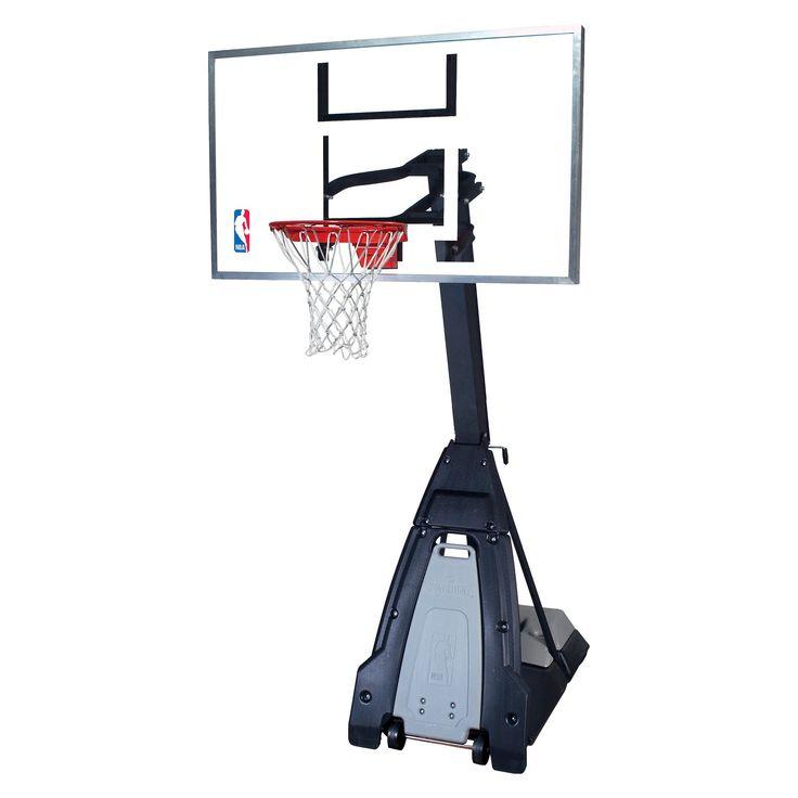 Spalding NBA 60 Glass Portable Basketball Hoop