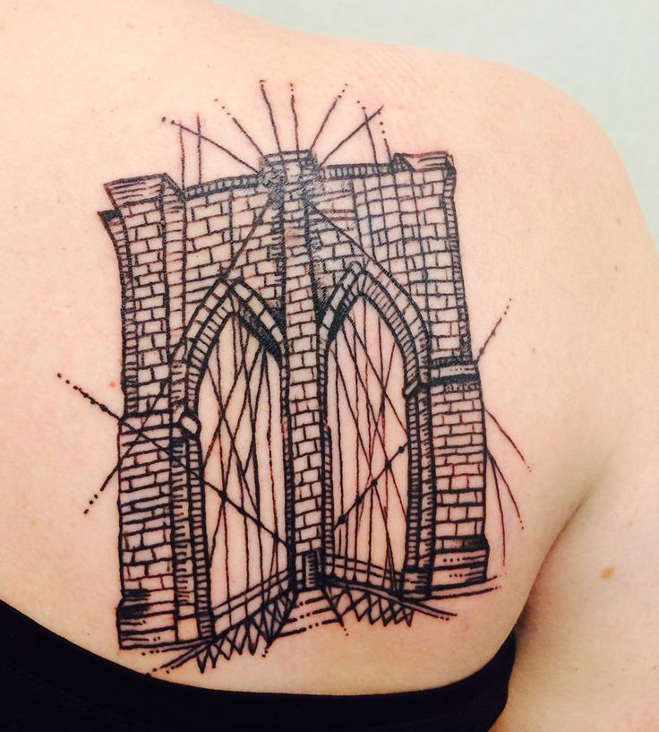 Brooklyn bridge my new tattoo in love with it by sue for East river tattoo price
