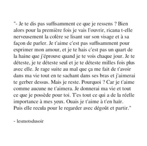 Image de amour, french, and quote