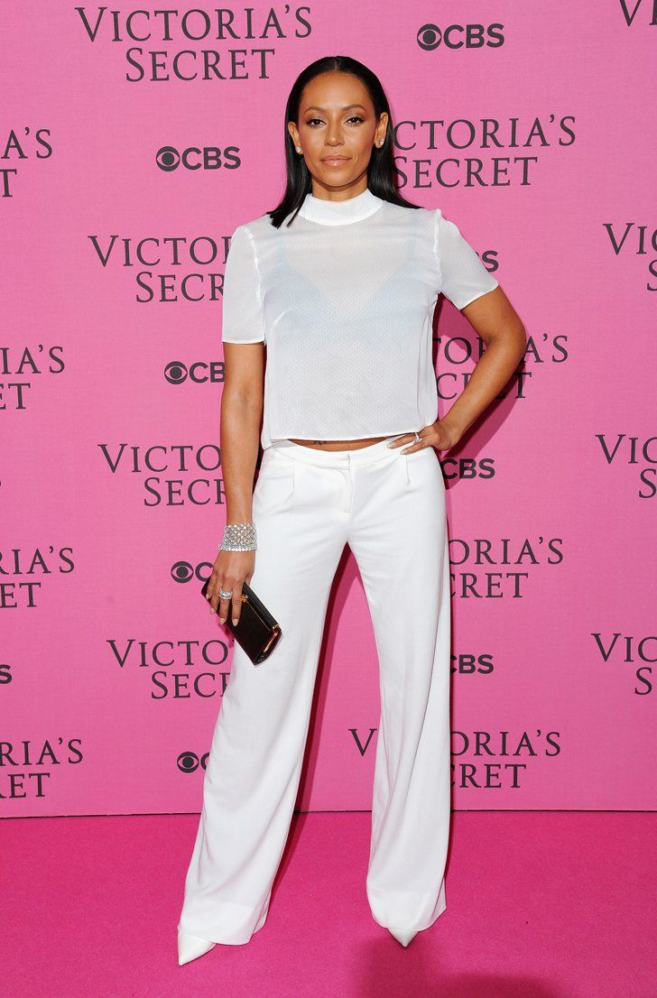 Pin for Later: The Pink Carpet Was Just as Hot as the VS Runway Mel B She was working that Winter white.
