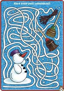 Sněhulák a koště-bludiště