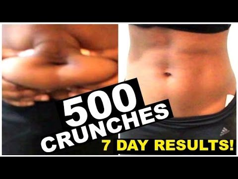 My 500 crunch 7 day RESULTS REVEALED!!! FOLLOW ME! Facebook: https://www.facebook.com/glamfun Instagram: http://instagram.com/glamfun/ Twitter: https://twitt...