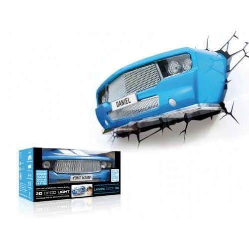 Auto blu 3D FX Deco Light Lampada da muro