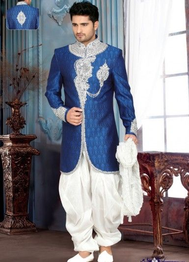 Rich Wedding Wear Indo Western Sherwani Collection  Catalog #Weddingwear #Sherwani