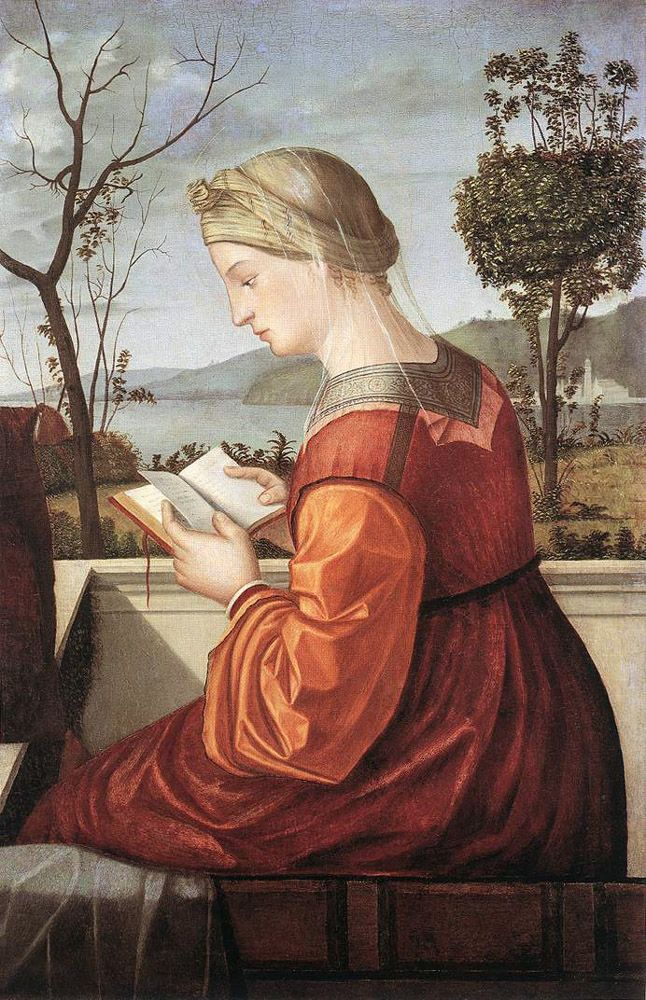 """The Virgin Reading"", 1510 / Vittore Carpaccio (c. 1465-c. 1526) / National Gallery of Art, Washington D.C., USA"