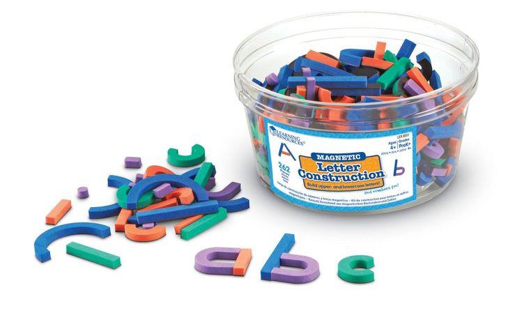 Magnetiskt konstruktionspaket med siffror och bokstäver