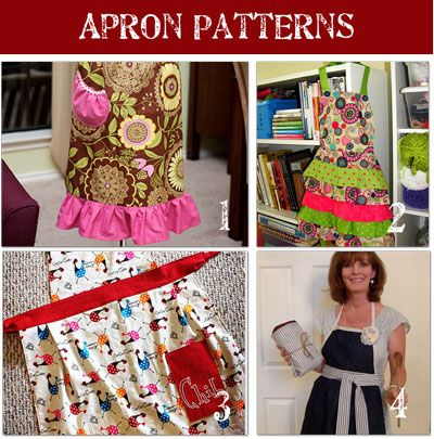Free Apron Patterns! LOVE