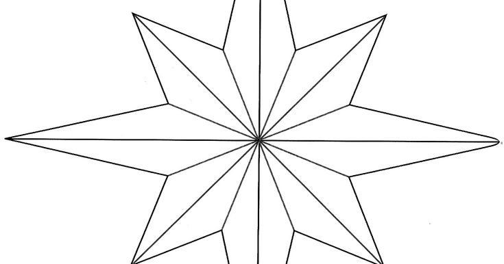 I wanted to share this 8 point star template that I came across in - star template