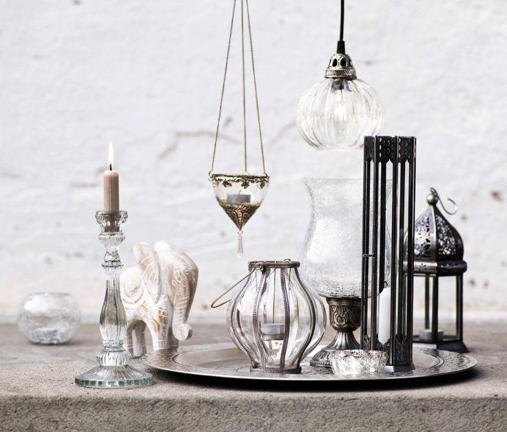TILJA ljusstake klar | T-light standing | Ljus & lyktor | Inredning | INDISKA Shop Online