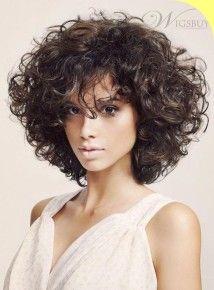 Стрижки для средних вьющихся волос