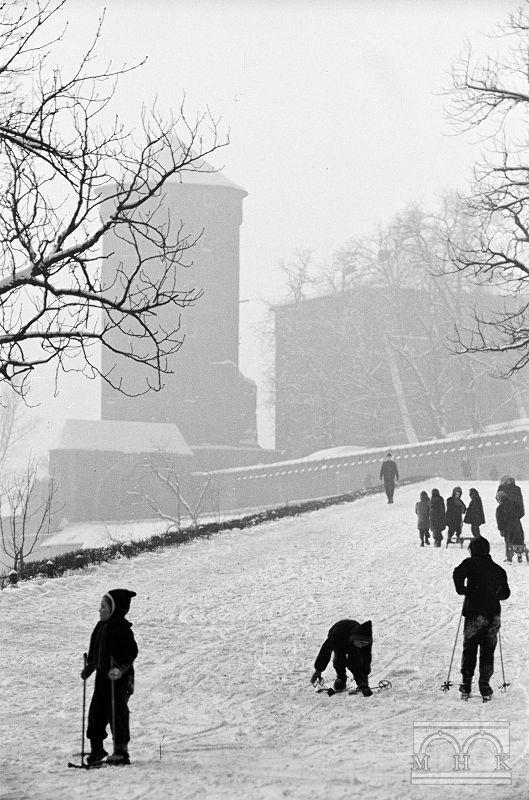 Kraków, Poland by photographer Henryk Hermanowicz. c, 1950s-1960s.