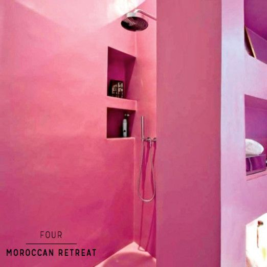 Seven Amazingly Colourful Shower Room Ideas Pink Bathroomsshower