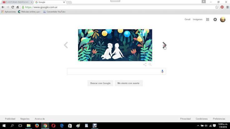 .el logo. de google por el 37 aniversario de la historia sin fin
