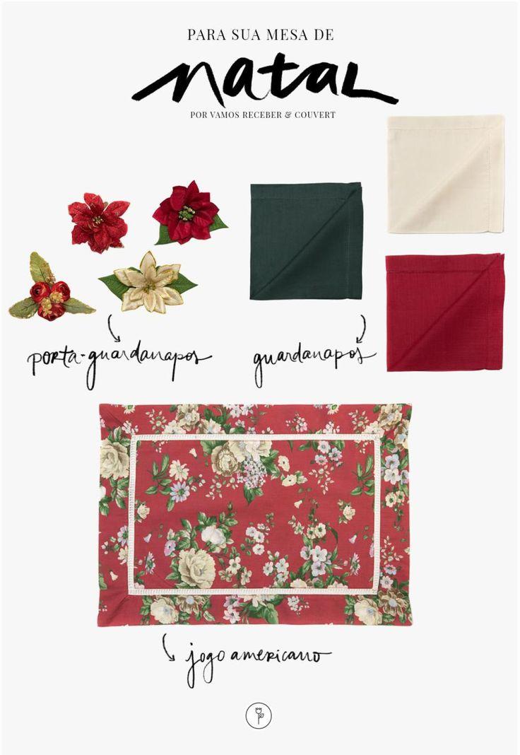 Acessórios para mesa da marca Couvert, sugestões para decorar o Natal