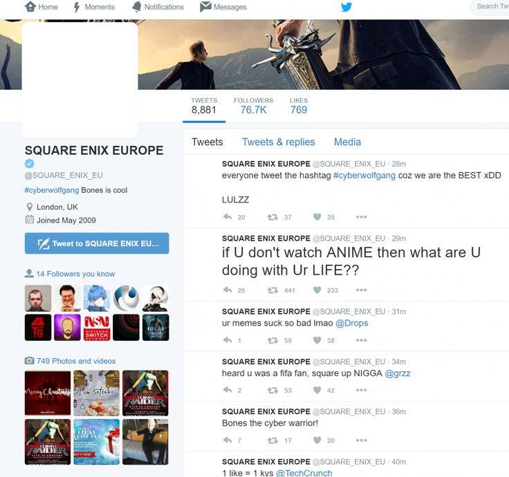 Square Enix Europe's Twitter account has been hacked: Square Enix Europe's Twitter account has been hacked:…