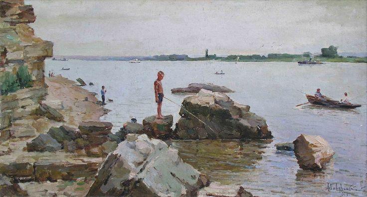 Гавдзинский Альбин Станиславович _Украина_1923_Рыбаки_1951