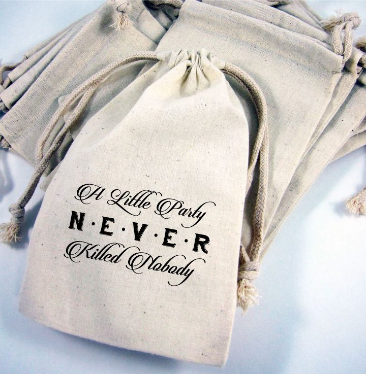 Great Gatsby Party Favor Canvas Bags
