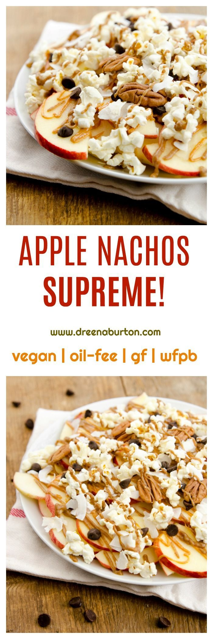 Apple Nachos Supreme! (vegan, gluten-free, wfpb, oil-free)