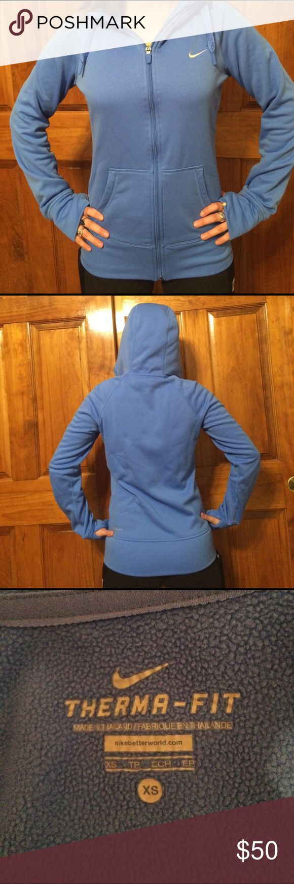 Nike Thermal Running Jacket Blue Nike Thermal Running Jacket with thumb holes Nike Jackets & Coats http://feedproxy.google.com/fashionshoes11
