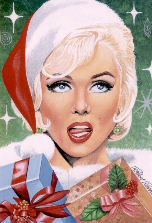 8 Best images about Marilyn Christmas Artwork on Pinterest ...