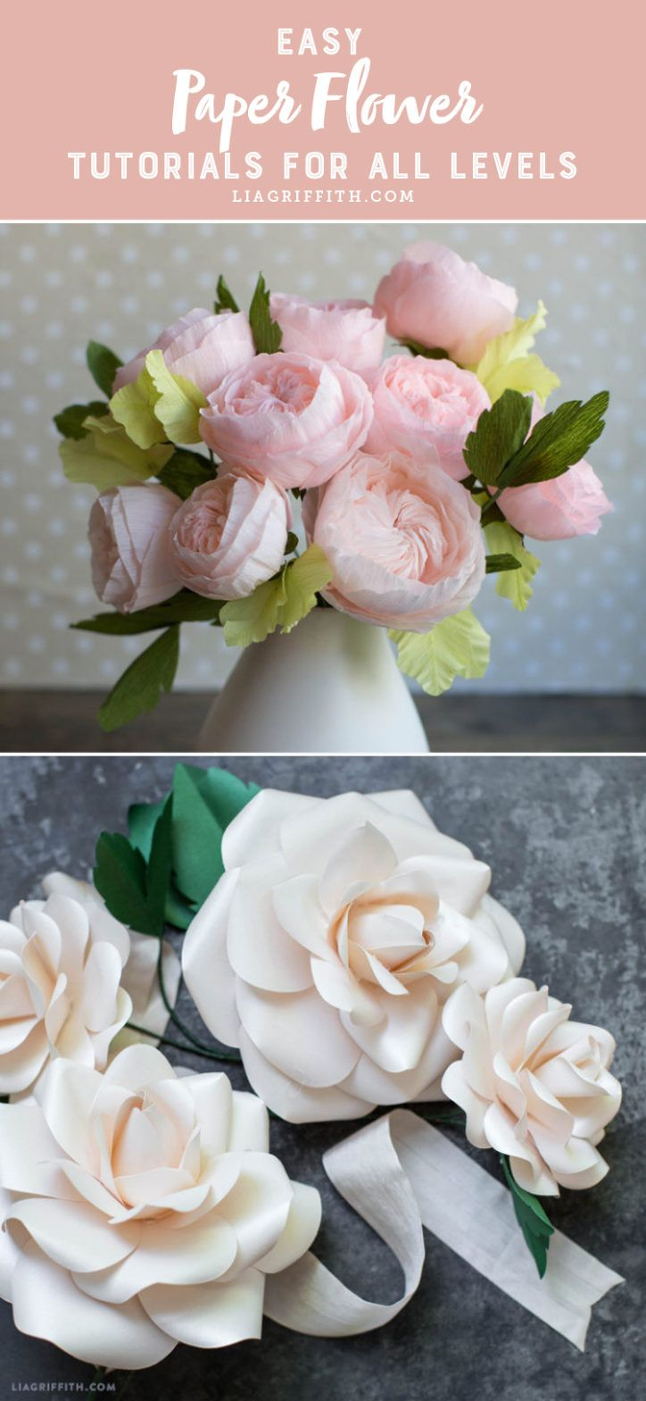 Showered in Flowers Splendid news crafters! We have carefully selected 10 of our favorite paper flower tutorial videos for you to craft along with. Take a look at our selections and let spring begin!