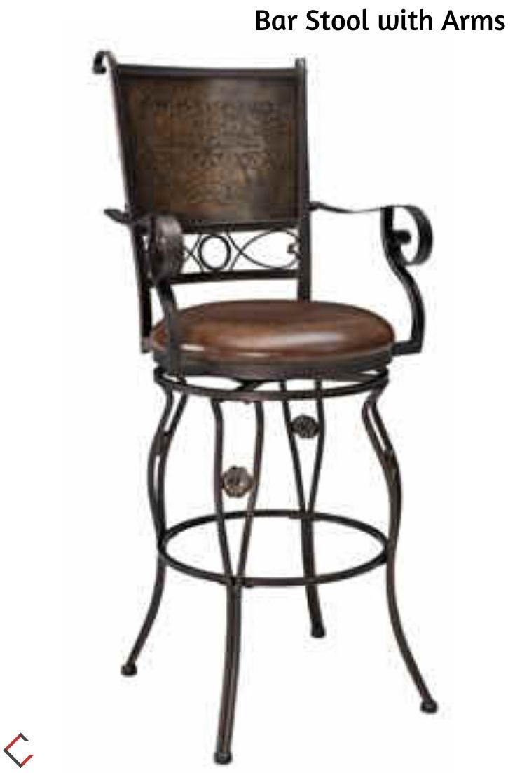 Powell Furniture Big And Tall Bar Stool With Arms Bar Stools