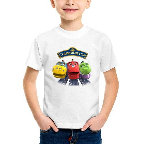 Детская футболка Весёлые паровозики