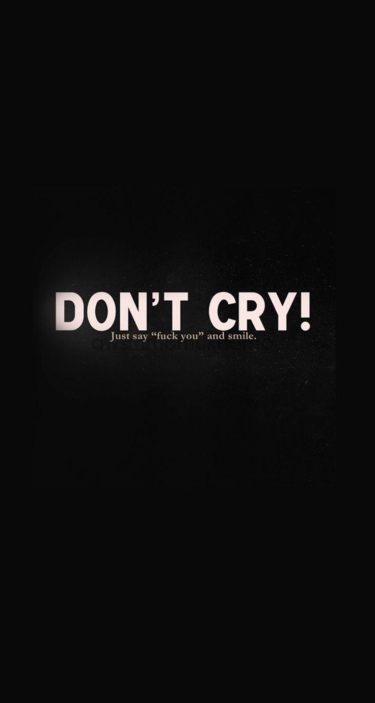 Du musst nicht weinen, sei stark, gib niemals auf, zu weinen, Mädchen