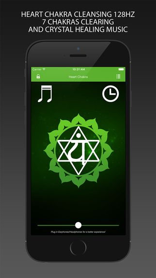 Heart Chakra Cleansing 128Hz - app for iOS - Seven Chakras Clearing and Crystal Healing Music