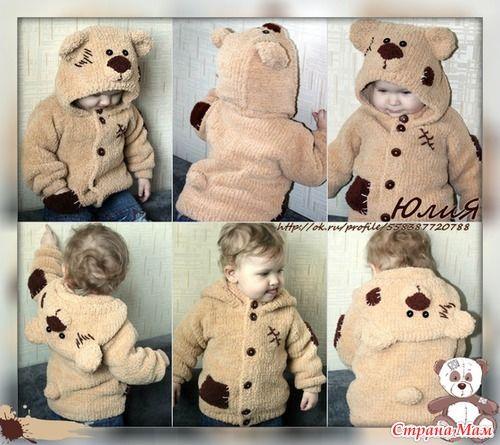 Кофточка мишка Тедди. - Вязание для детей - Страна Мам