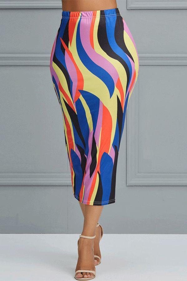 bc319c3883892f Ericdress Color Block Geometric Bodycon Women's Skirts#skirts#fall ...