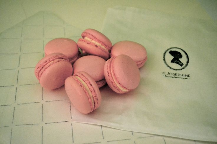 "Our Rosewater Macaron has a delicate and fragrant flavor, as the flower that created them. A rose infused butter cream that will make you experience ""La Vie en Rose""  http://macaronsbyjosephine.com.au/"
