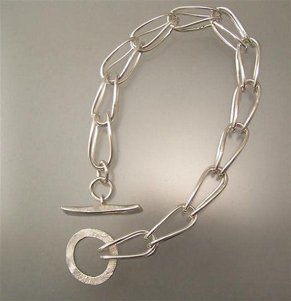 Handmade Silver Chain Bracelet by EhrhardtStudios on Etsy