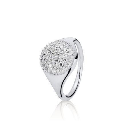 Large Pavé Diamond Ring - Pandora UK | PANDORA eSTORE