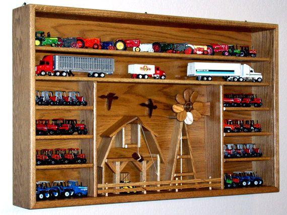 Farm Scene farm toy oak display case to proudly by OakCollection, $295.00