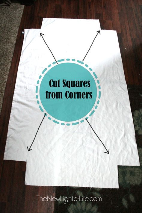 """How to Make Fitted Sheets From a Flat ( Can use 4 pieces of elastic 10-16"""" long)"""
