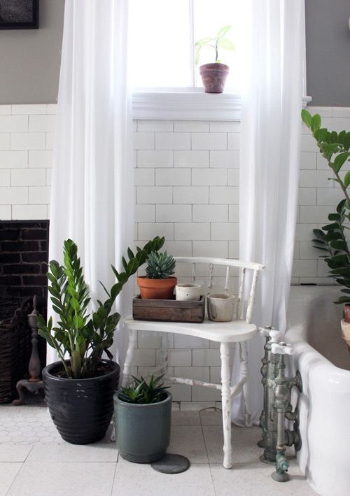 Before & After: Gray and Green Bathroom Redo #diy #beforeandafter