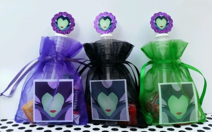 12 Maleficent Birthday Party Favor Bags  Stickers Bubbles Goody Aurora Easter #Disney