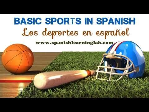 """Basic Sports in Spanish (phrases + tips + audio) Learn some common sports in Spanish plus several useful phrases and questions to talk about your favorite sports in Spanish. Listen to native Spanish speakers pronouncing """"los deportes en español"""" and giving you a few useful tips for real conversations."""