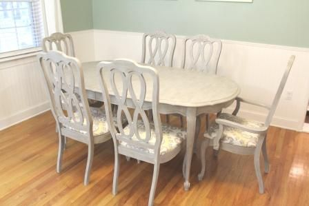 Paris Grey Dining Table Wood Table Painted With Annie