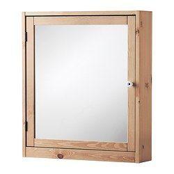 SILVERÅN Mirror cabinet - light brown - IKEA