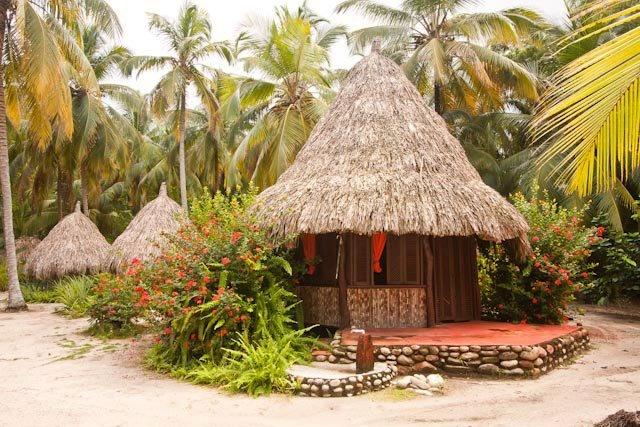 Aprovechando los recursos de la región, cuidamos y protegemos este santuario de paz. En la foto: Cabaña Playa Bonita.