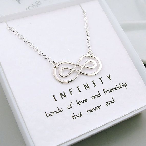 Silver Double Infinity Necklace Sterling Silver by RoseAndRaven